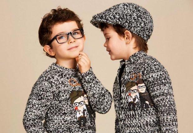 свитер вязаный детский серого цвета