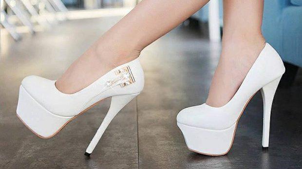 Туфли женские весна лето 2019: на высоком каблуке белые
