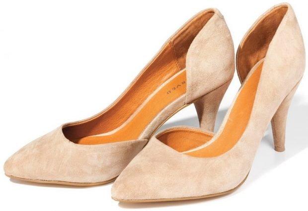 Туфли женские весна лето: на среднем каблуке светлые лодочки