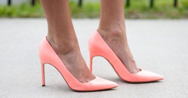 туфли лодочки розовые на шпильке
