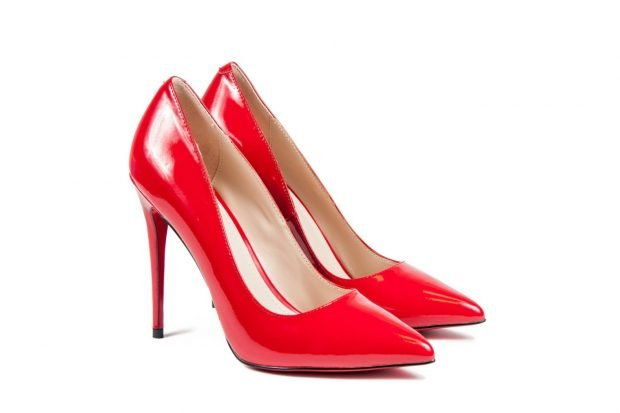 туфли лодочки красные на шпильке