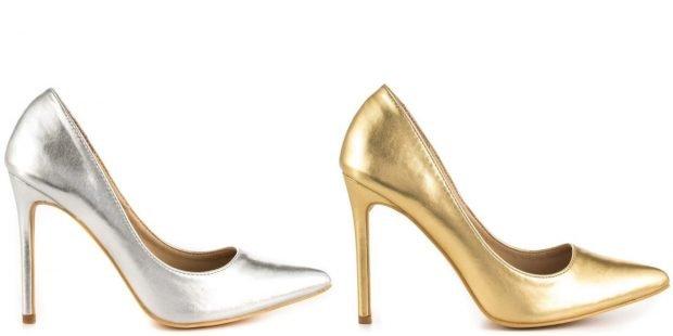 туфли лодочки серебро золото на шпильке