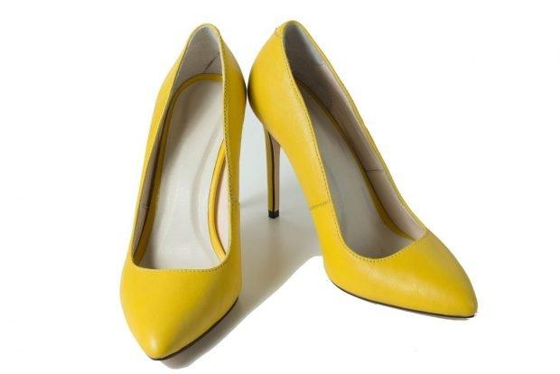 туфли лодочки желтые на шпильке