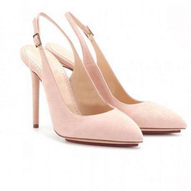 туфли с открытой пяткой розовые лодочки замша
