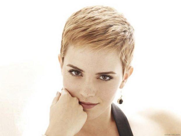 короткая женская стрижка светло-рыжий цвет волос