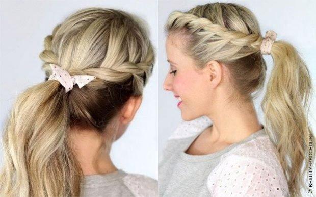 коса с хвостом