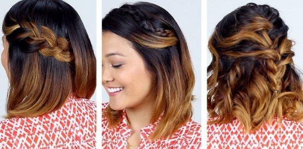 коса на короткие волосы