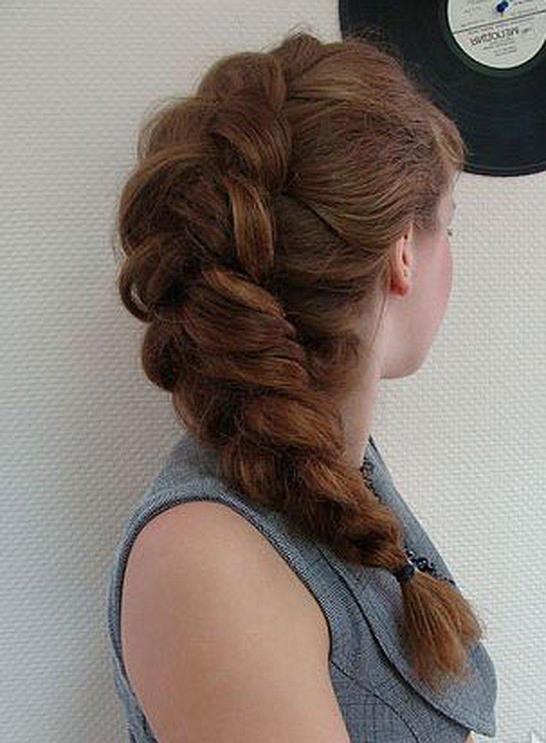 объемная коса наоборот