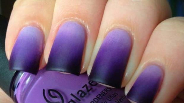 омбре фиолетовое матовое
