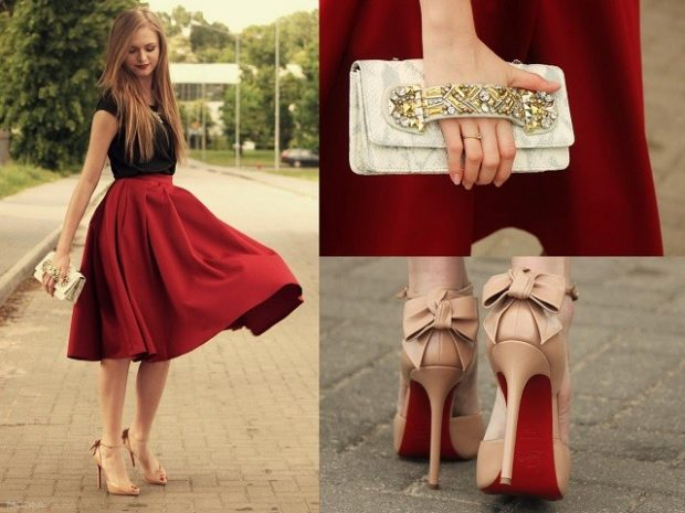 бежевые под юбку красную