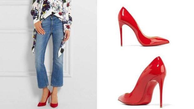 красные под джинсы короткие