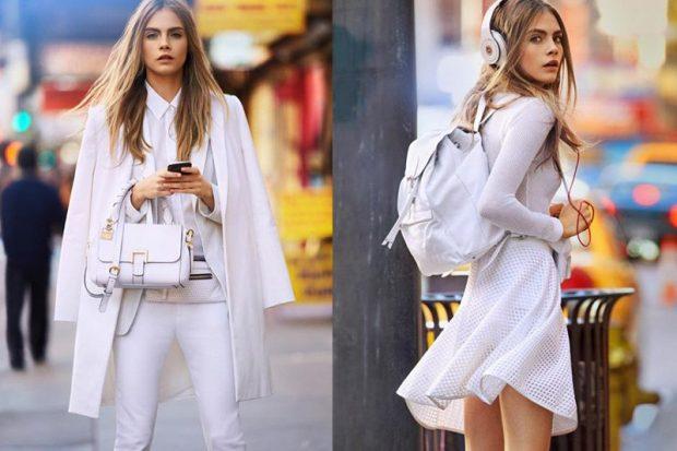 белая юбка, белое пальто