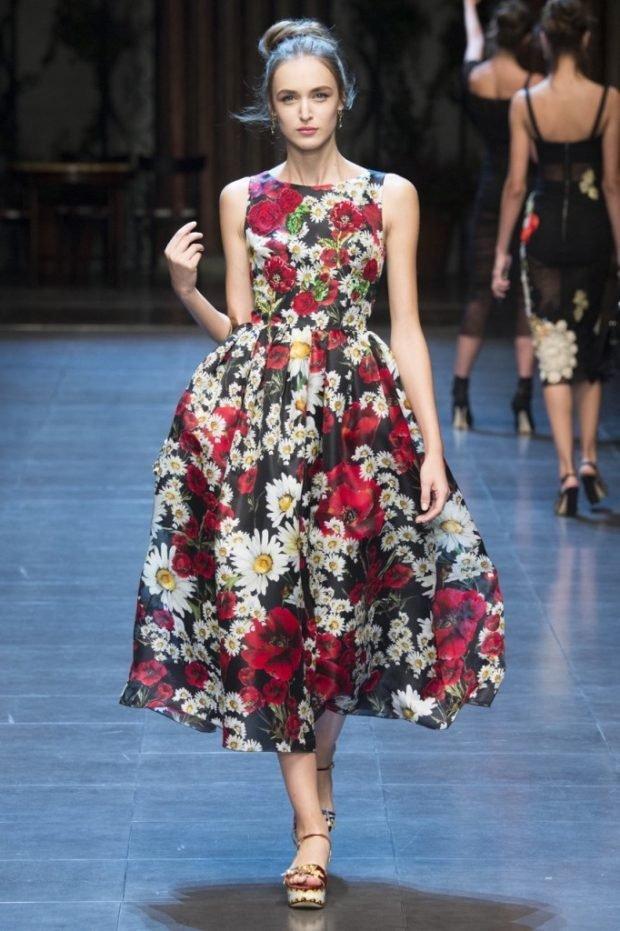 платье в принт