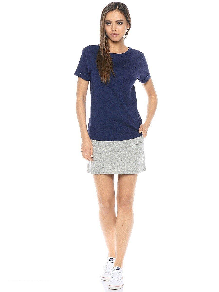 Юбка спортивная серая и синяя футболка