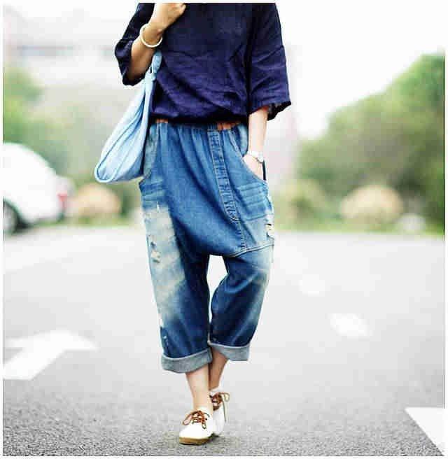 джинсы широкого кроя