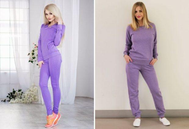 фиолетовый костюм с манжетами