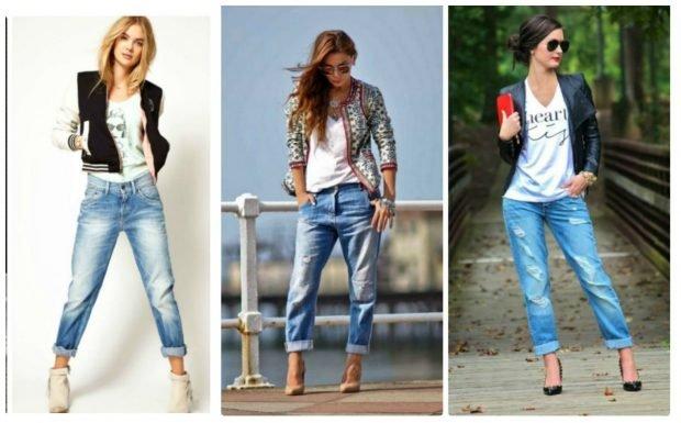 джинсы с подкатом потертые под курточку бомбер под жакет яркий под куртку кожаную