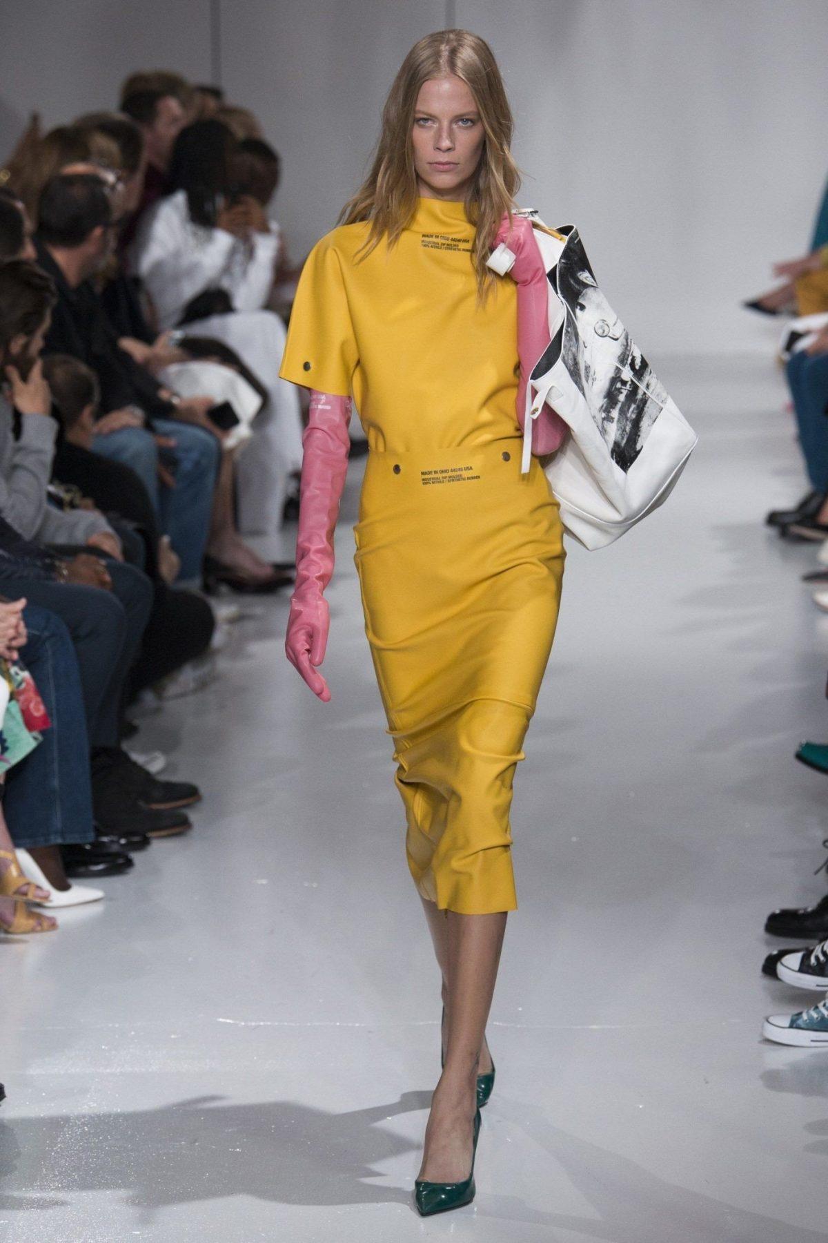 платье желтое длина миди рукав короткий