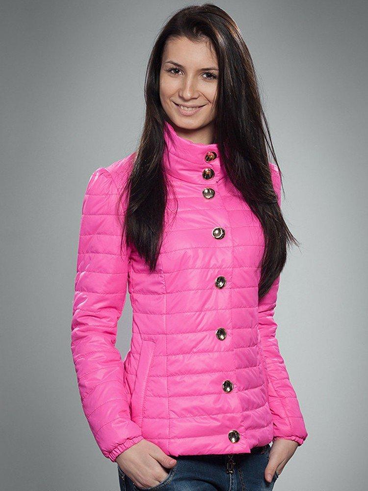 розовая куртка  стеганая