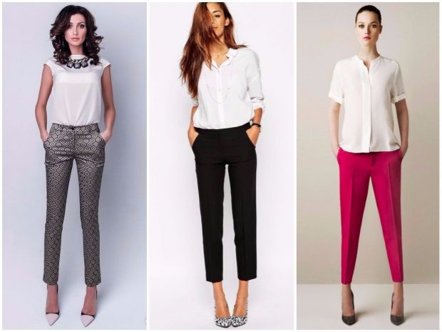 короткие брюки под белые блузки
