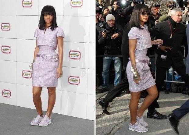 платье цвет лаванды под кроссовки в тон