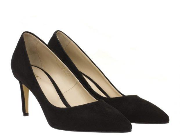 женская обувь весна 2020: туфли лодочки замша