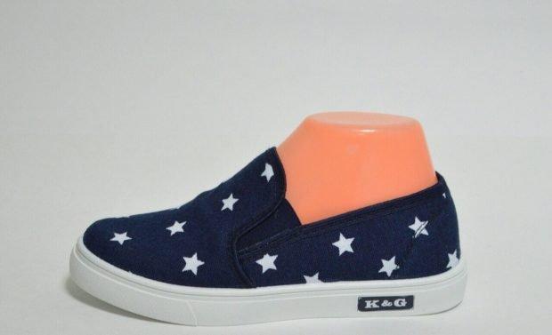 мокасины синие в звезды