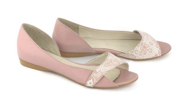 розовые босоножки с открытым носком