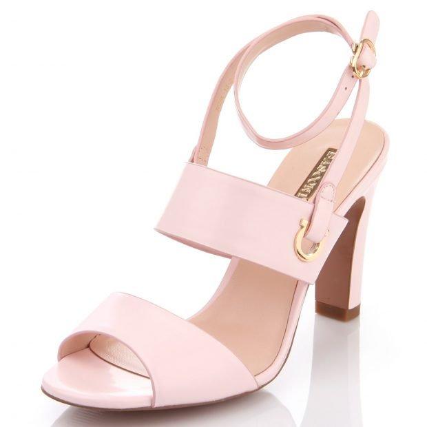 босоножки Розовые на толстом каблуке