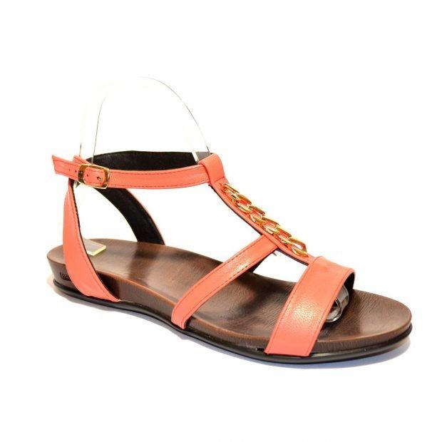 сандалии оранжевые
