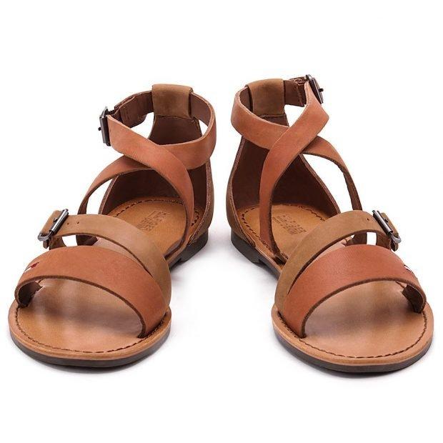 сандалии римские коричневые