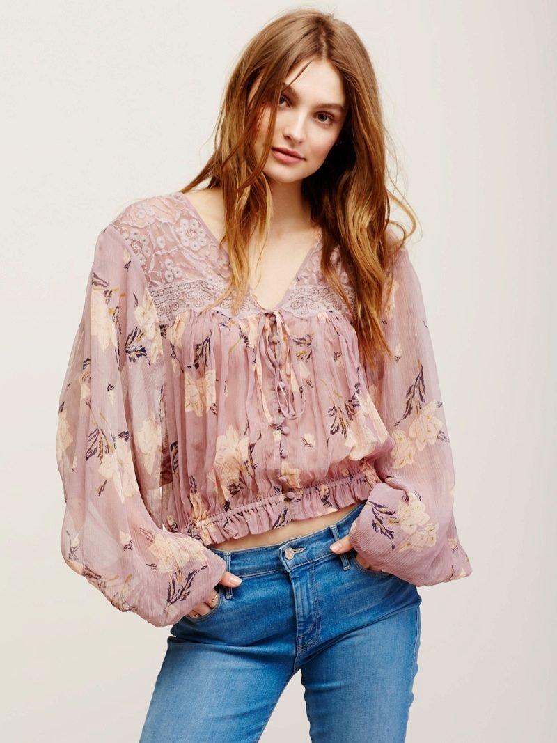 блузка рукав реглан крестьянский стиль