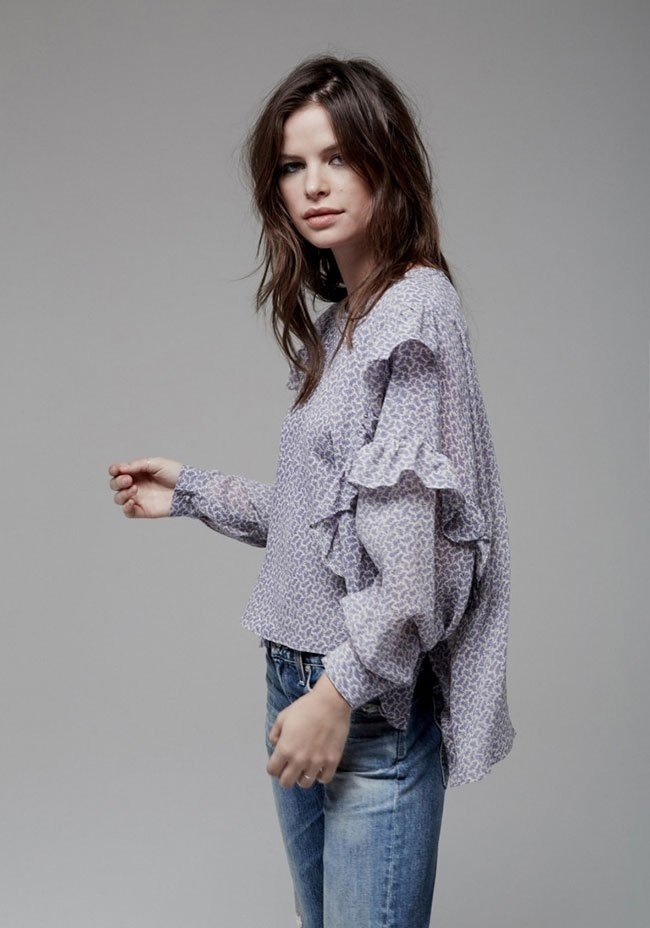 блузка с рюшками шифоновая