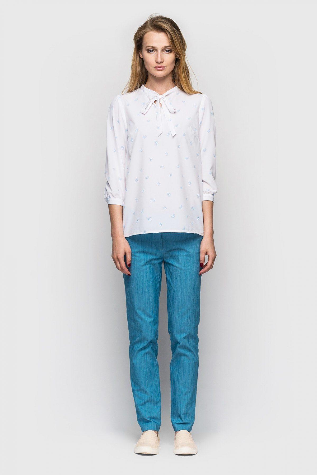 брюки зауженные джинсовые
