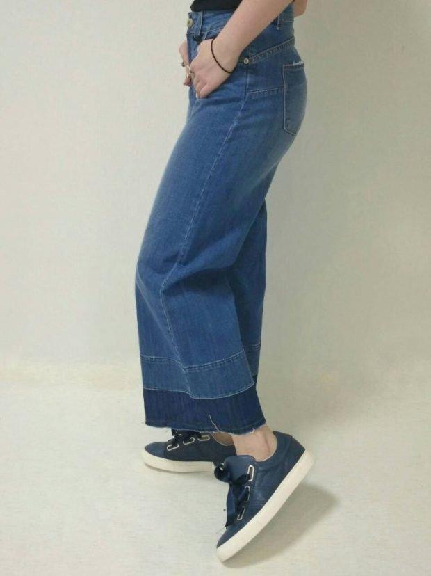кюлоты джинсовые