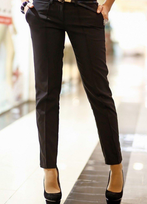 классические брюки черные по косточку