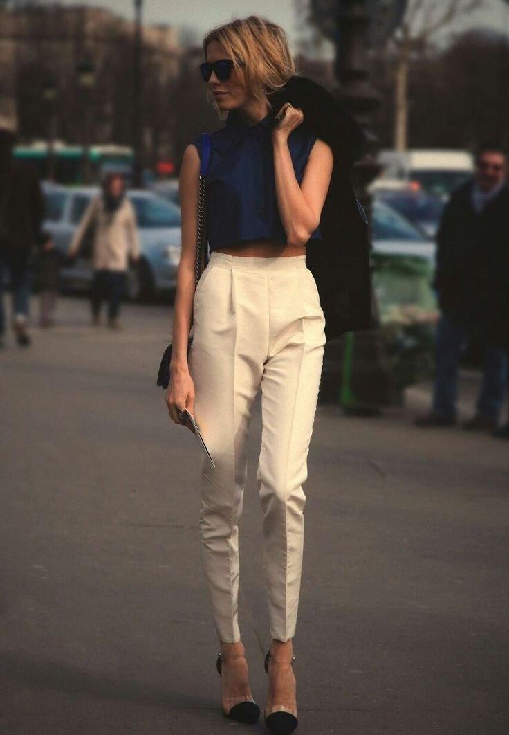 брюки с высокой талией бежевые
