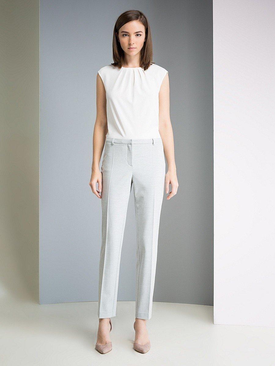 брюки прямые белые укороченные