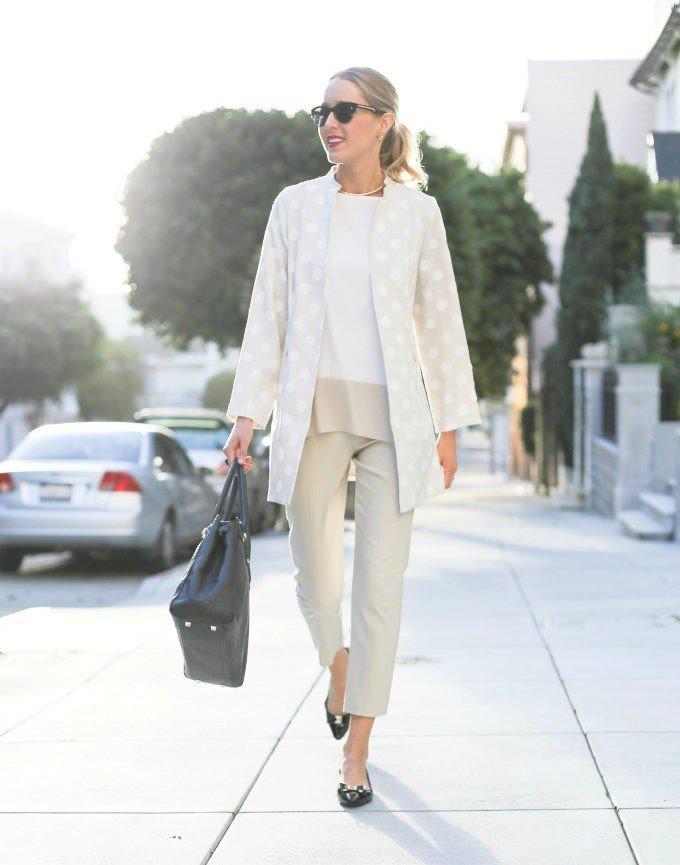 брюки прямые белые короткие