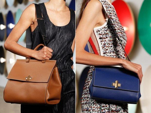 сумка коричневая на ремне длинном синяя небольшая