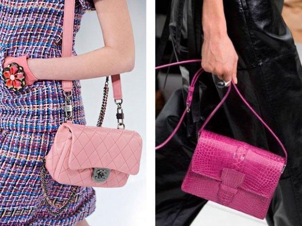 маленькие сумочки розовая малиновая на длинном ремне