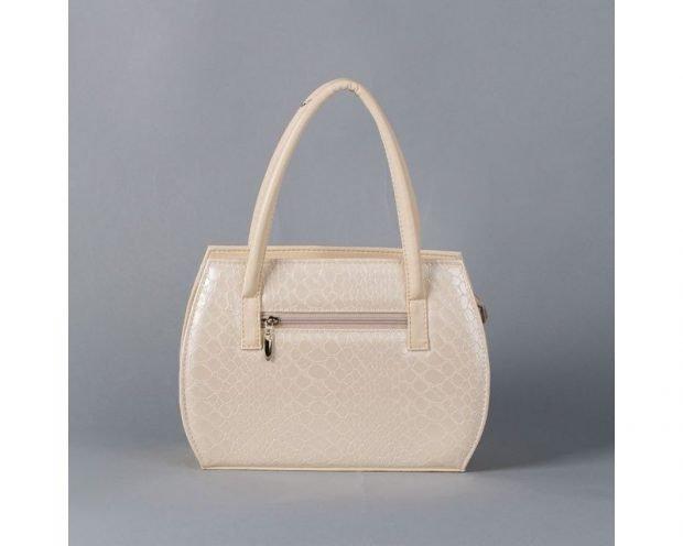 сумка каркасная белая