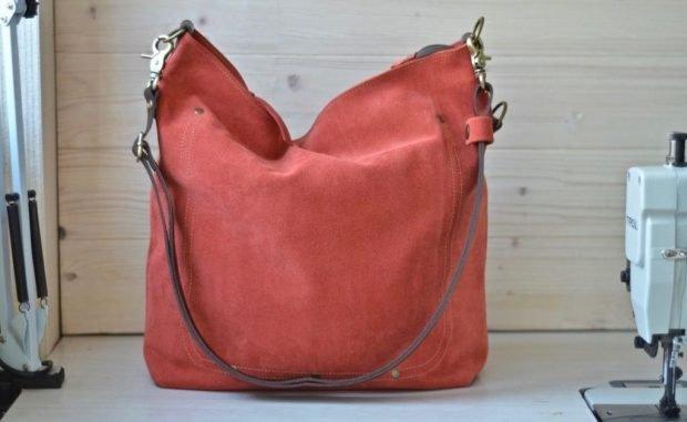 мягкая сумка красная
