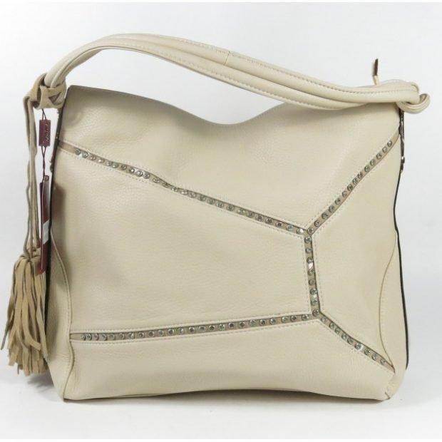 мягкая сумка белая кожа
