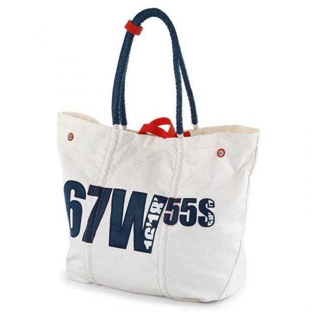 пляжная сумка белая с надписями