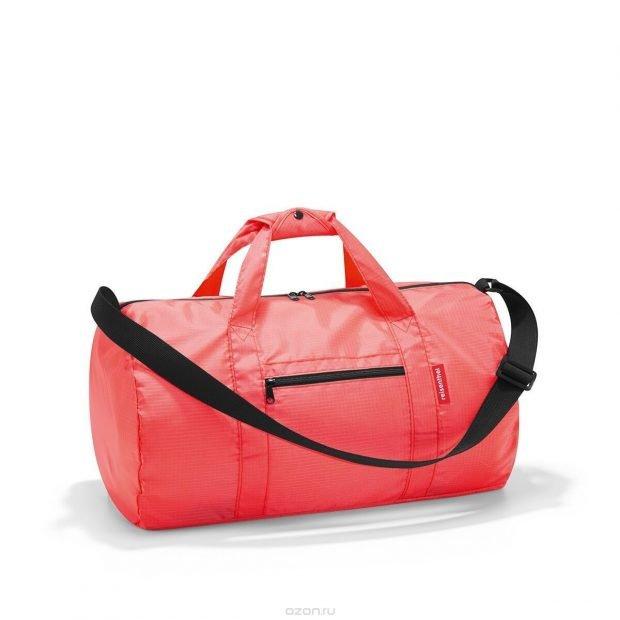 спортивная сумка красная цилиндр