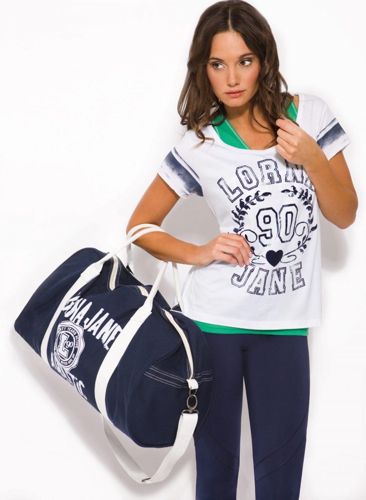 спортивная сумка синяя с белым