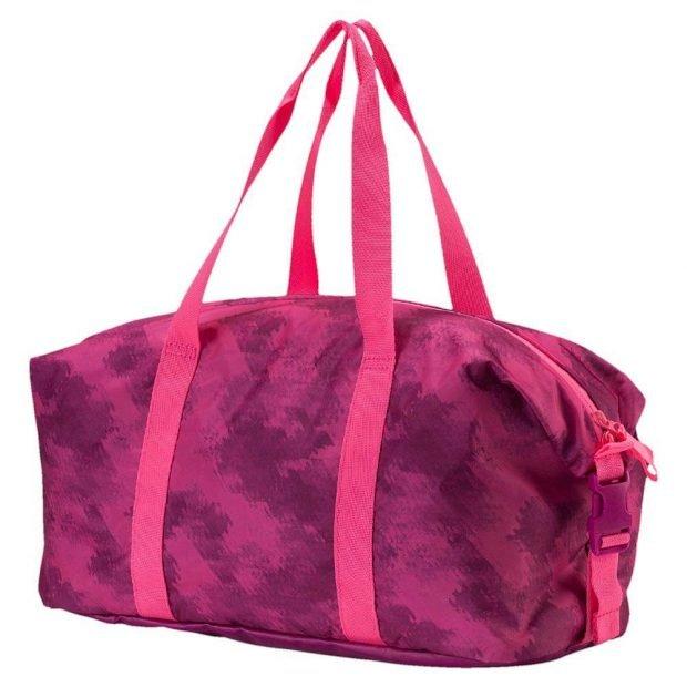 спортивная сумка яркая малиновая