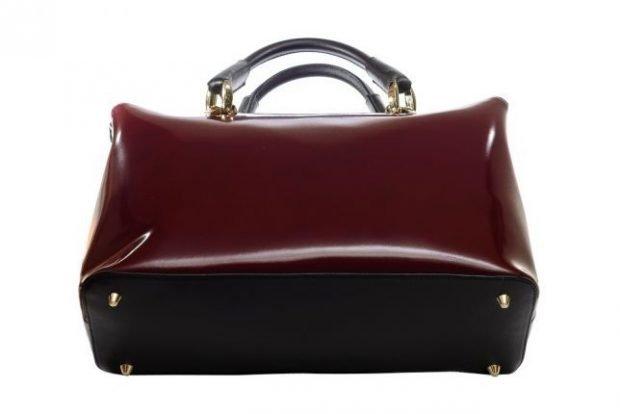 сумка красная каркасная