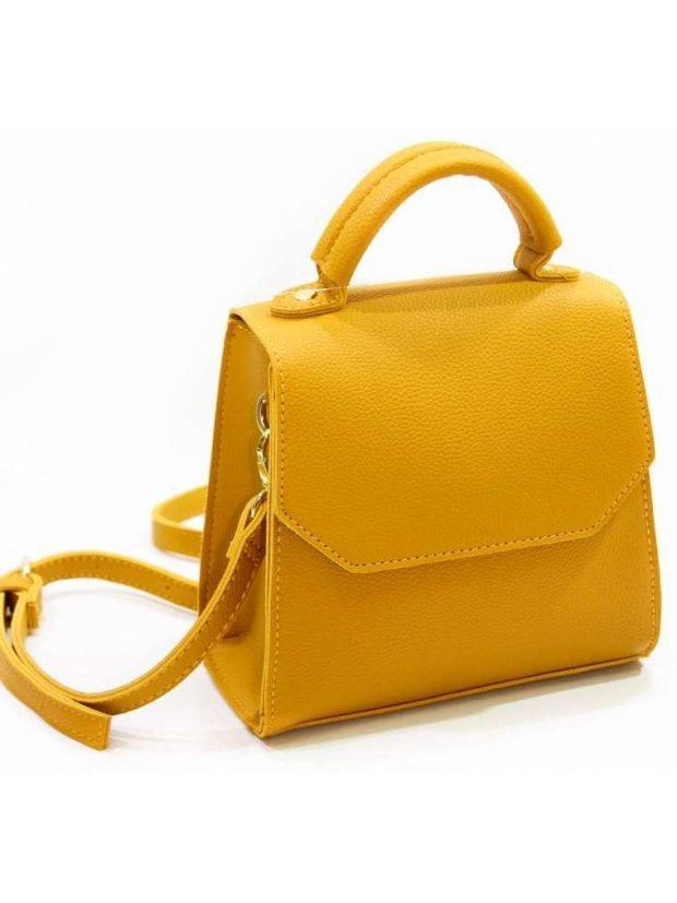 сумка через плечо желтая